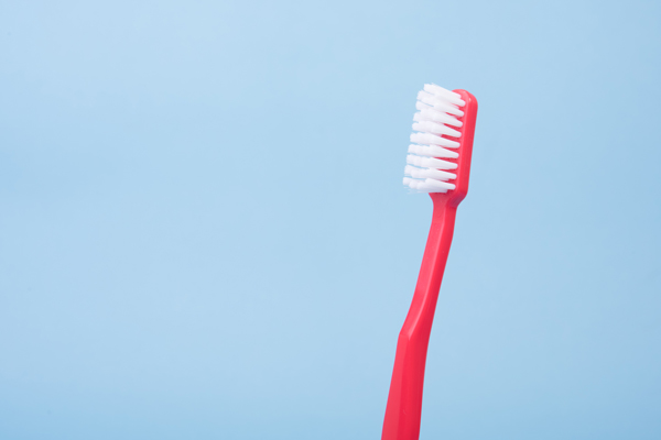 Red tooth brush