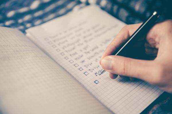 Writing a checklist
