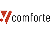 Comforte logo with a white background