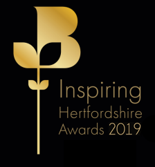 Inspiring Hertfordshire awards logo for 2019