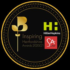 Inspiring Hertfordshire awards logo including sponsors