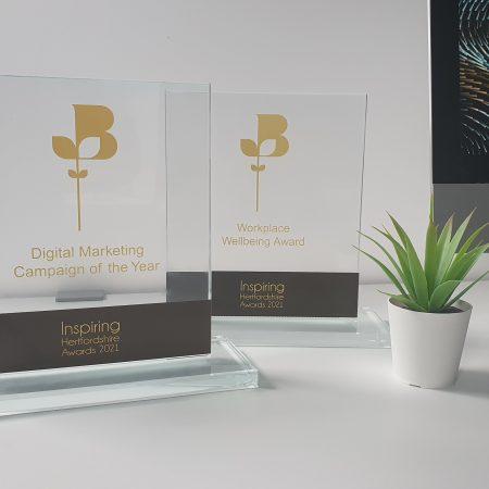 Trophies won by Wagada at the Inspiring Hertfordshire Awards 2020/21
