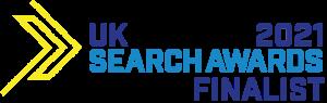 UK search awards finalist logo for Wagada